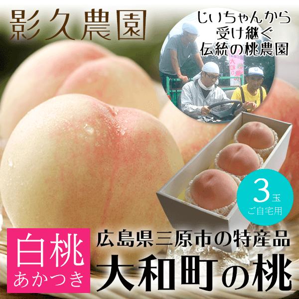 影久農園 白桃3個入り