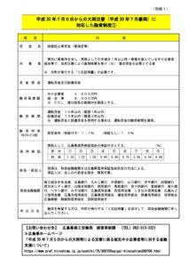 平成30年7月豪雨災害に関する支援情報について